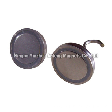 N42 magnetic hook D36*6.35 mm+ M4 female thread