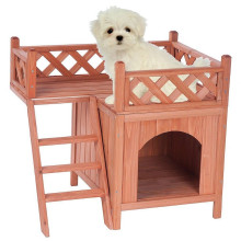 Solid Wooden No Painting Dog House