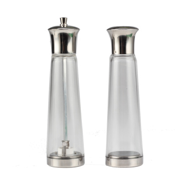 Salt andPepper Grinder Set Glass Pepper Mills Shakers