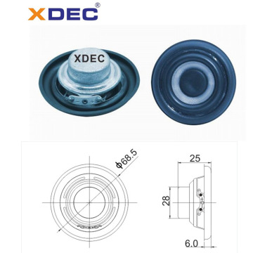 52mm neodymium full range speaker 8ohm 8w