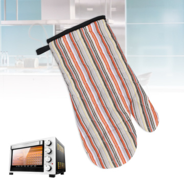 Heat Resistant Striped Kitchen Cotton Gloves