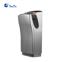 Grooved silver hand dryer