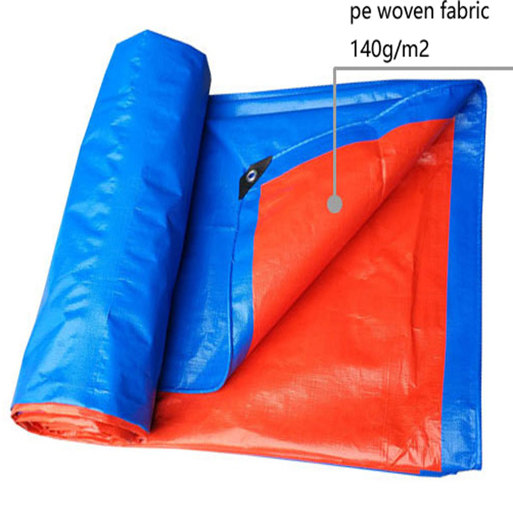 High Strength Durable Blue Orange Tarpaulin