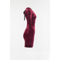 Ladies velvet dress with backless