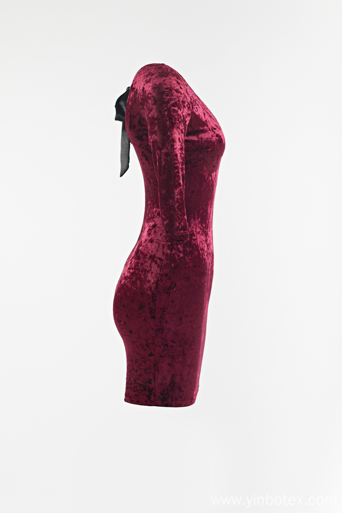 Ladies velvet dress with backless for Sale