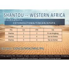 Shantou Sea Freight to West Africa