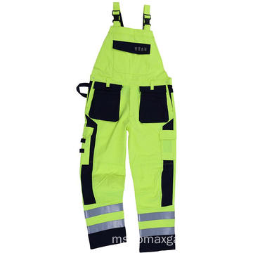 Fr White Grey Blue Safety Worakwear Bib Pants