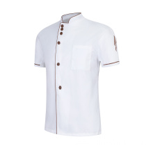Unisex Restaurant Uniform Kitchen Waiter Waitress Shirt Chef Cook Work Uniform