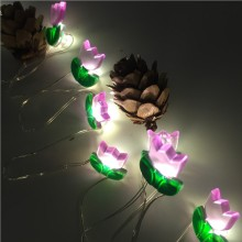 LED Lichterkette mit Blume