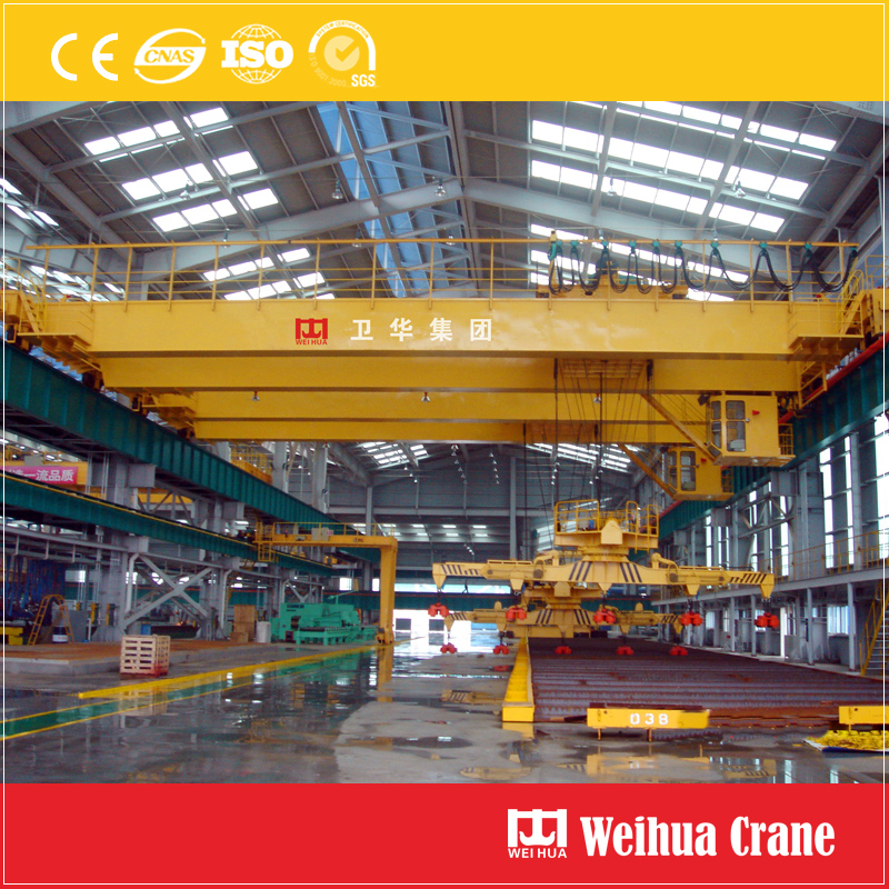 Overhead Crane With Magnet Sling