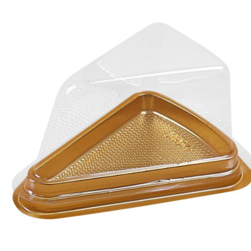 Bakery slice clear triangle plastic cake box