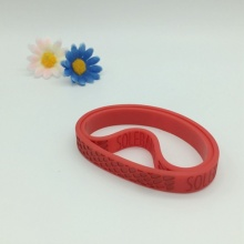Excellent Quality Wristband Silicone with Debossed Logo