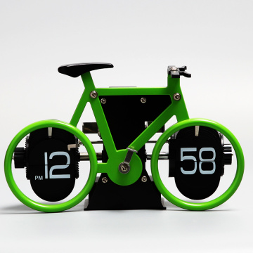 12 AM/PM Mini Table Flip Clock Bicycle