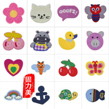 10pc Wool knitting hand made love heart butterfly cherry duck fish cow cat turtle pig ironing on patch