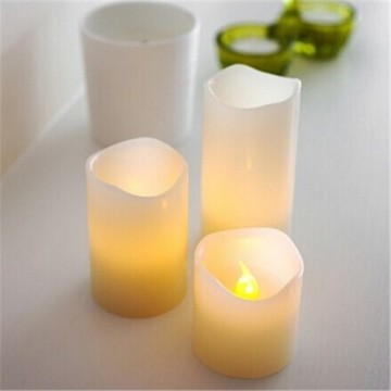 LED Battery flameless pillar shape candle