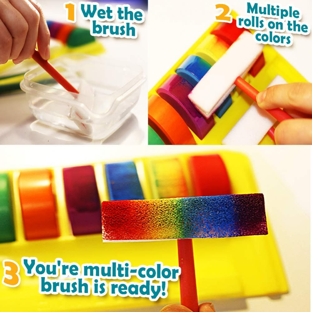 Rainbow Sponge Brush 1