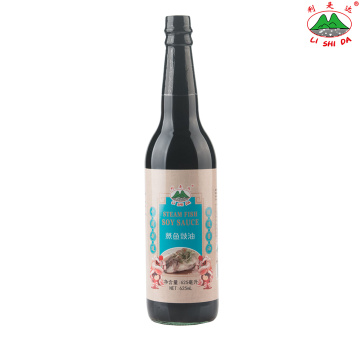 Steamed Fish Soy Sauce 625ml Glass Bottle