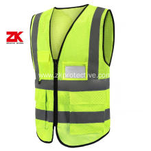 hi vis mesh work vest with custom logo