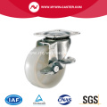 1 1/2'' White PP Industrial Casters with side brake