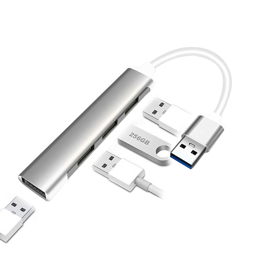 4 in 1 USB Hub Multiport Type C Splitter Adapter Computer Laptop Dock Converter Alloy for 13/15 inch MacBook Pro Air