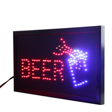 CHENXI Ultra Bright Led Bar Neon Sign Led Billboard Neon Light Animated with Hanging a Chain 19*10 Inch