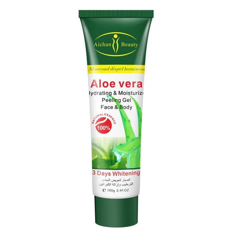 Aloe Vera Papaya Exfoliating Gel Face Cream Scrub Acne Blackhead Remove Moisturizing Whitening Cream Body Care