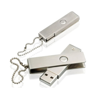 Unidad flash USB de metal con logotipo gratuito