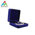 Luxury Dark Blue Velvet Plastic Bangle Box