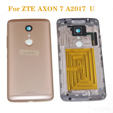 New Original back cover For ZTE Axon 7 A2017 A2017G A2017U 5.5'' Cellphone Metal Frame Housings Cover mobile phone frame
