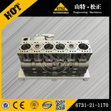 Komatsu excavator cylinder block 6754-21-1310 PC200-8 engine parts