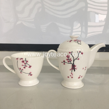 Ceramic Bone Porcelain One Pot One Cup Set