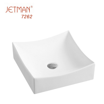 Rectangular ceramic bathroom vanity table top home decorative sink