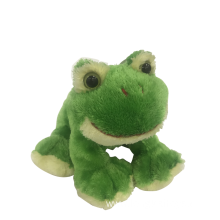 Crouching Green Plush Frog