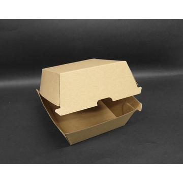 Burger Box / Brown Corrugated Kraft paper box