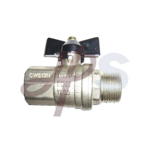 Aluminum butterfly handle brass ball valve FxM
