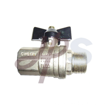 Aluminum butterfly handle ball valve with union
