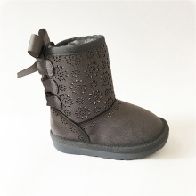 Female Rubber Ankle Leather Boots