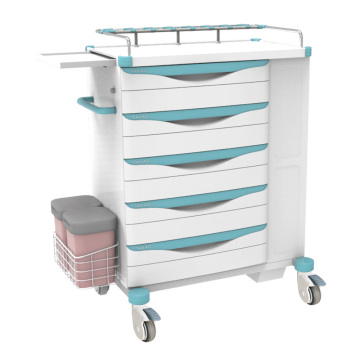 Hospital ABS Steel Independent Space Emergency Trolley
