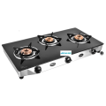 Astra Black Toughened Glass Cooktop 3 burner