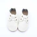 Plain White Rubber Sole Cute Kids Oxford Shoes