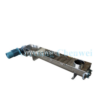 Inclined/spiral conveyor for conveying particles