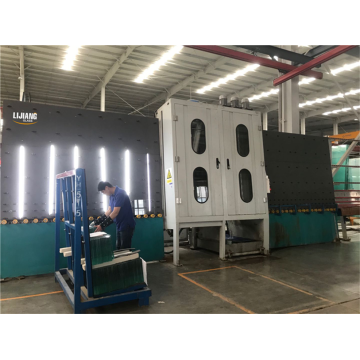 Insulating glass making washing and drying machine