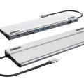 USB C HUB, 14 in 1 Multifunctional Type-C Docking Station Gigabit Network Card for PC Laptop