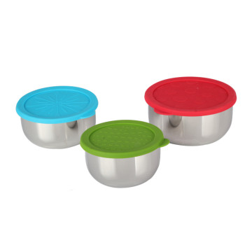 Stainless Steel Mixing Bowls Set with Airtight Lids