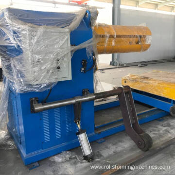 10 tons hydraulic decoiler roofing sheet machine decoiling system