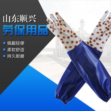 PVC raincoat sleeve waterproof warm gloves