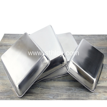304Exquisite Square Stainless Steel Bake Ware Kitchen