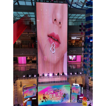 High quality semi outdoor transparent led screen