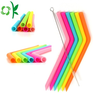 Food Grade Silicone Soft Drinking Straw For Juice/Coffee