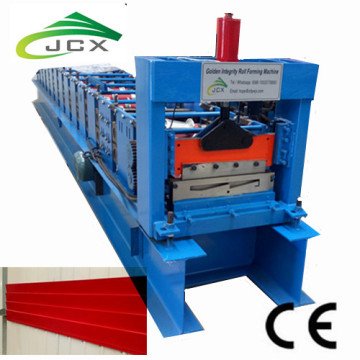 Exterior cladding sheet roll forming machine
